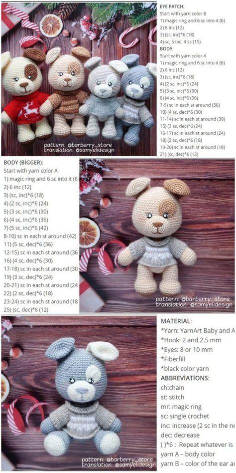 We will share a wonderful amigurumi dog free crochet pattern in this article. Yo... - Wiezu