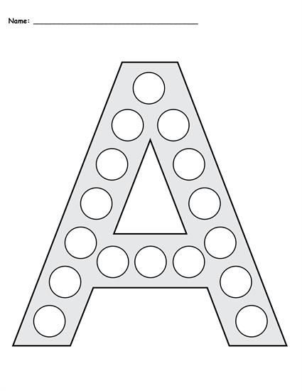Letter A Do A Dot Printables Uppercase Lowercase Do A Dot Letter A Crafts Letter A Coloring Pages