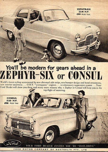 1954 Ford Zephyr Six Consul Aussie Original Magazine