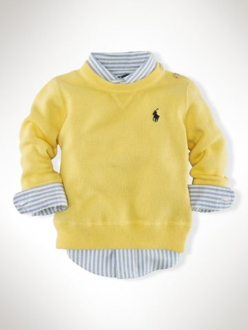 Crewneck Sweater - Infant Boys Sweaters - RalphLauren.com | Little ...