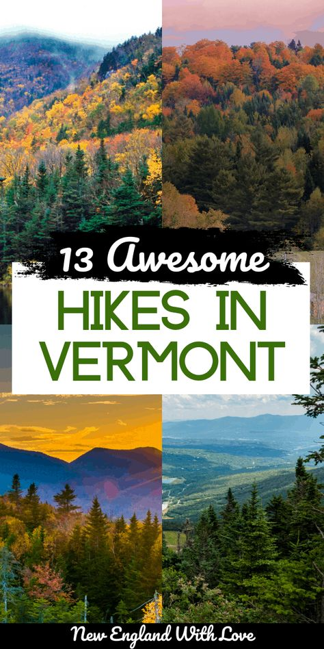 Hiking Usa, Camping And Hiking, Hiking Spots, Hiking Trails, Green Mountains Vermont, East Coast Road Trip, New England Travel, Best Hikes, Travel Usa
