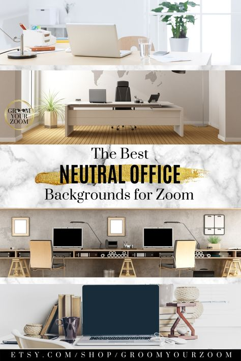 Natural Office Zoom Background 4 Virtual Photos For Video Etsy Home Office Background Natural Office