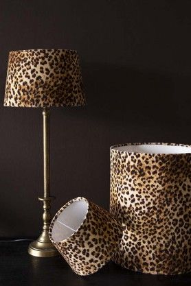 Rockett St George Leopard Love Lamp, Leopard Print Lamp Shade Uk