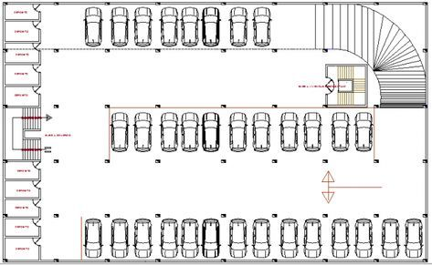 Basement Car Parking Lot Floor Plan Parking Design Parking Building Car Parking