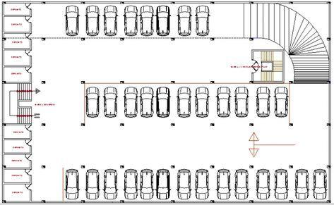 Basement Car Parking Lot Floor Plan Details Of Multi Purpose