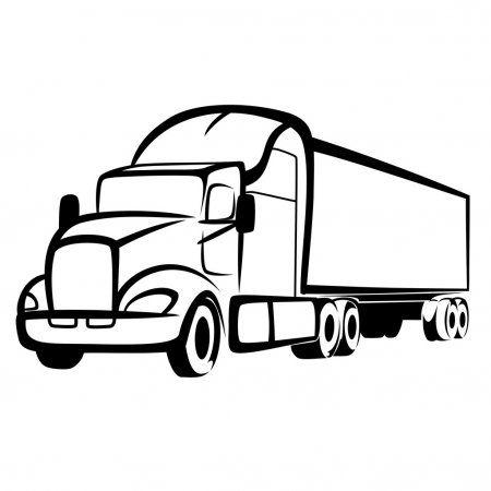Truck Symbol Stock Vector Aff Symbol Truck Vector