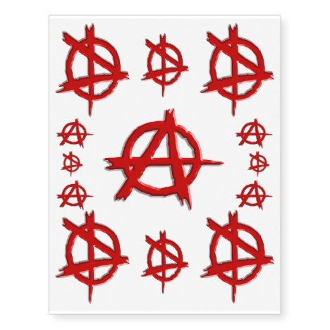 Red Emboss Look Anarchy Logo Show You Dont Care Temporary Tattoos Zazzle Com You Dont Care Temporary Tattoos Note Tattoo