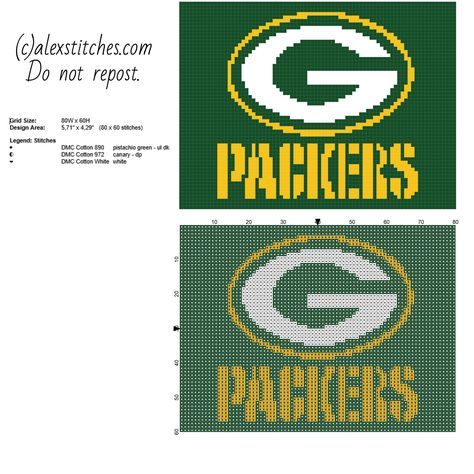 f3a38ae7 List of Pinterest green bay packers crafts pattern cross stitch ...