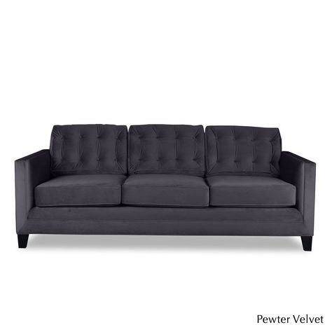 Remarkable South Cone Home Montecarlo Tufted Velvet Sofa 60 Long Ocoug Best Dining Table And Chair Ideas Images Ocougorg