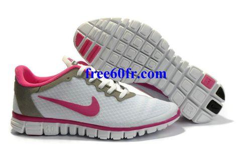 quality design a587a c5a45 Acq7574 Nike Free 3.0 V2 Femme Chaussures De Course Blanc Rose
