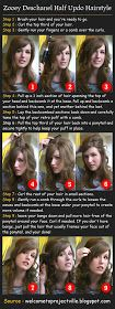 Pinterest Tutorials: Zooey Deschanel Half Updo Hairstyle