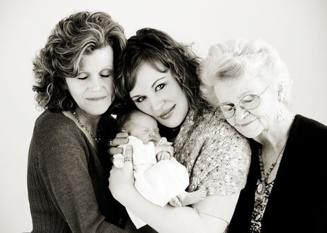 4 generations of beautiful- I want to take this picture with my mom & grandma!