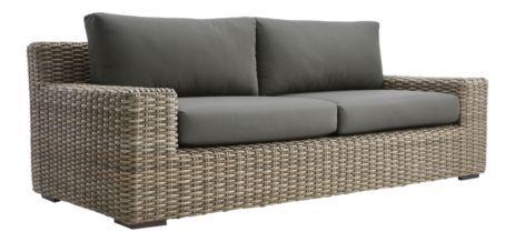Cayman Outdoor Sofa With Graphite Sunbrella Cushions Reviews