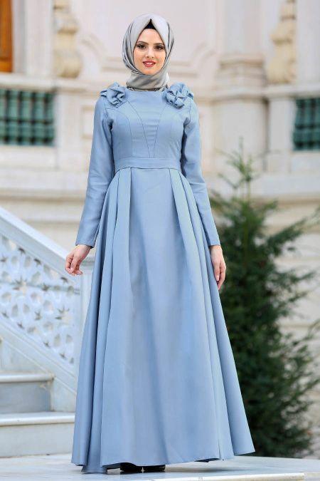 Tuay Omuz Buzgulu Tesettur Soz Elbisesi Modelleri Moda Tesettur Giyim The Dress Elbise Modelleri Elbise