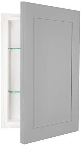 Wg Wood Products Fr 224 Primed Shaker Style Frameless Recessed In Wall Bathroom Medicine Storage Cabinet Multiple Finishe Shaker Style Medicine Storage Storage