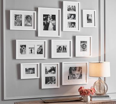 Wood Gallery Frames In A Box Set Of 10 In 2020 Wood Gallery Frames Picture Gallery Wall Gallery Frames