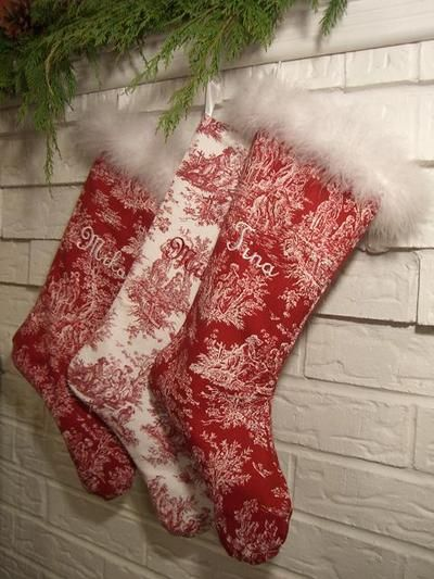 Toile stockings (from Cherry Hill Cottage)
