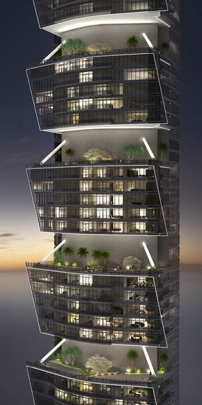 Pentominium Tower Dubai The Pentominium Tower Is The Highest Residential Tower In The World Modern Architecture Architecture Design Residential Architecture