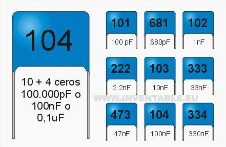 Valores Tipicos De Los Capacitores Condensadores Circuito Electronico Componentes Electronicos