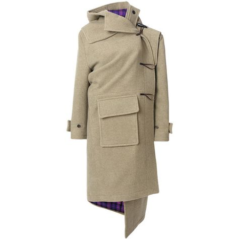 Balenciaga Pulled cashmere duffle coat (5,315 CAD) ❤ liked on Polyvore featuring outerwear, coats, cashmere coats, long sleeve coat, balenciaga, brown coat and pure cashmere coat