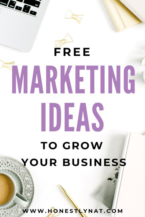 Free Marketing Ideas for your Creative Business - Honestly Nat