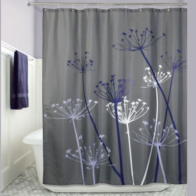 Idesign 72 Inch X 72 Inch Thistle Fabric Shower Curtain In Grey