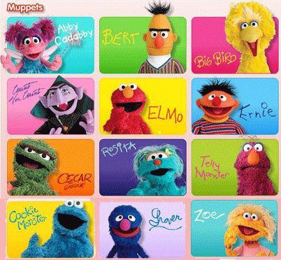 Sesame Street Cartoon Characters Names Secondtofirst Com