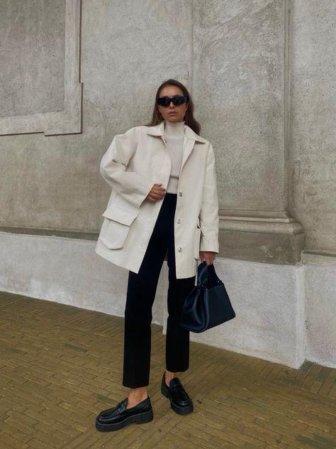 Maria Kragmann in Off-white Murray Coat