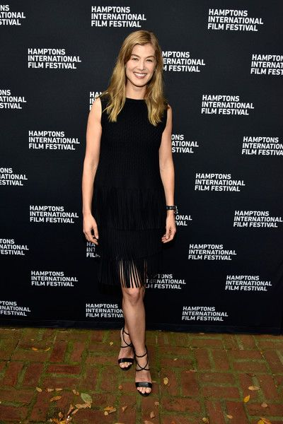 Actress Rosamund Pike attends the Red Carpet for 'A Private War' at Guild Hall during Hamptons International Film Festival 2018.