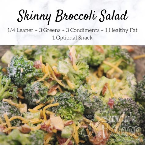 Skinny Broccoli Salad, Brocolli Salad, Medifast Recipes, Diet Recipes, Healthy Recipes, Recipies, Kitchen Recipes, Yummy Recipes, Yummy Food