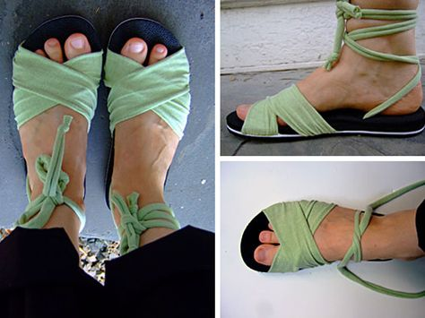 Make your own sandals...cute!