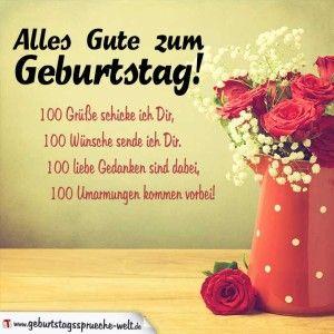 Vintagelook Geburtstagskarte Mit Blumenvase Schone Spruche