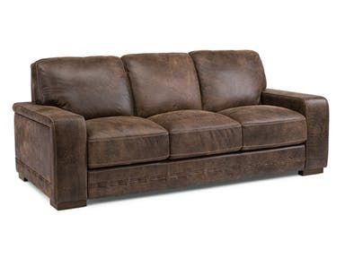 Flexsteel Leather Sofa 1117 31 Contemporary Leather Sofa Leather Sofa Living Room Leather