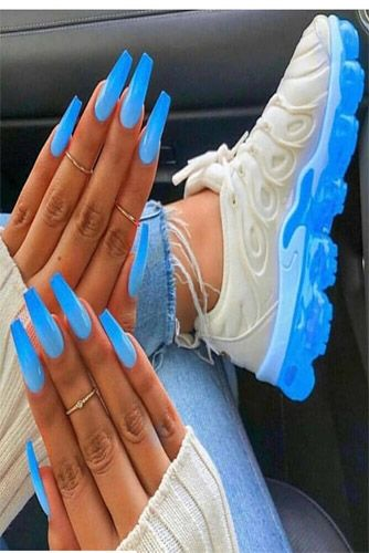 Neon Everywhere Stunning Neon Blue Nail Arts Ideas 2019 Blue