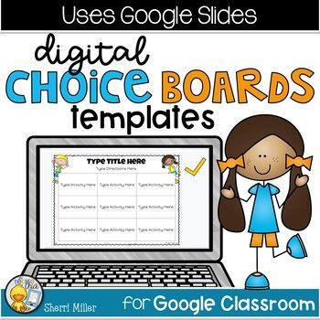 Distance Learning Digital Editable Choice Boards Freebie For