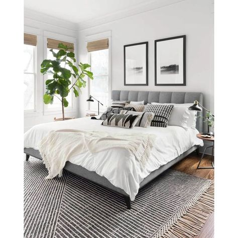 Home Interior Design Newton Charcoal/Ivory Area Rug - Magnolia Home by Joanna Gaines.Home Interior Design Newton Charcoal/Ivory Area Rug - Magnolia Home by Joanna Gaines Modern Master Bedroom, Master Bedroom Design, Master Suite, Master Bedroom Decorating Ideas, Modern Bedroom Design, Relaxing Master Bedroom, Master Bedroom Makeover, Beds Master Bedroom, Bedroom Interior Design