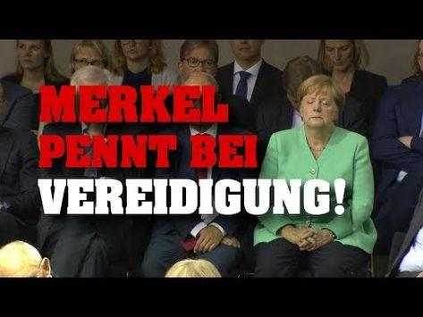 RIESENBLAMAGE! Merkel pennt bei Vereidigung! - YouTube