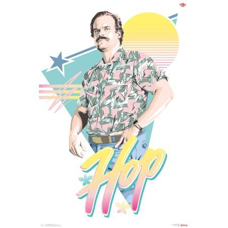stranger things 3 hop poster and clip