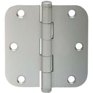 Schlage 1011 3 5 X 3 5 Plain Bearing 5 8 Radius Corner Mortise Hinge Three Hinges Satin Nickel By Schlage Lock Company 11 93 Schlage Corner Door Hinges