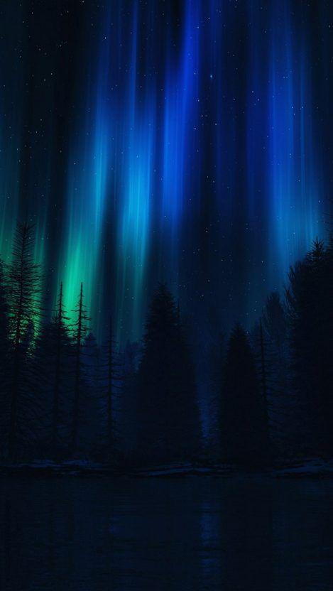 Night Polar Lights Sky Iphone Wallpaper Northern Lights Wallpaper Night Sky Wallpaper Christmas Lights Wallpaper