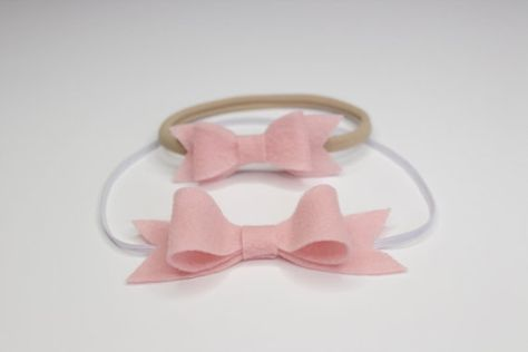 1c3acf5f12e Mommy and Me - Pink Bow Headband Set - Matching Bow - Mom and Baby - Mommy  and Me - Handmade by Bows Bella on Etsy