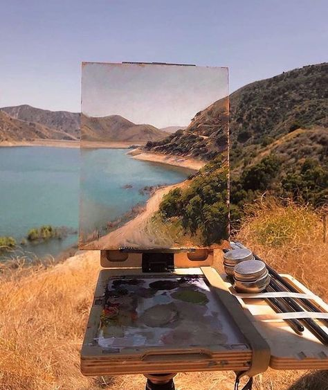 Painting Digital, Art Hoe Aesthetic, Saatchi Gallery, American Artists, Aesthetic Pictures, Art Inspo, Landscape Paintings, Oil Paintings, Landscapes
