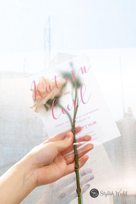 There are more possibilities for your wedding stationery #wedding#weddinginvitations#stylishwedd#stylishweddinvitations#acrylicweddinginvitations#weddingideas