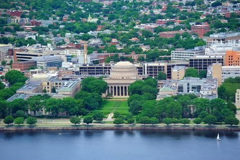 Boston Massachusetts Institute Of Technology Campus With Trees And Lawn Aerial View With Charles Ri Photographic Print Songquan Deng Art Com Massachusetts Institute Of Technology Best University Top Colleges