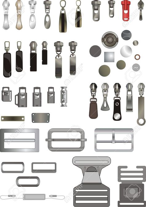 Some Kinds Of Sewing Accessories Royalty Free Cliparts, Vectors, And Stock…