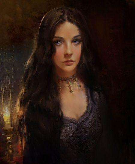 Ashara Dayne Portrait Asoiaf Art
