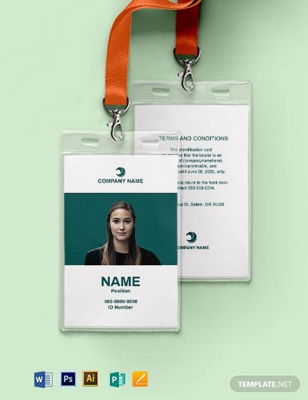 Instantly Download Blank Employee Id Card Template Sample Example In Microsoft Word Doc Adobe Photo In 2020 Employee Id Card Id Card Template Card Templates Free