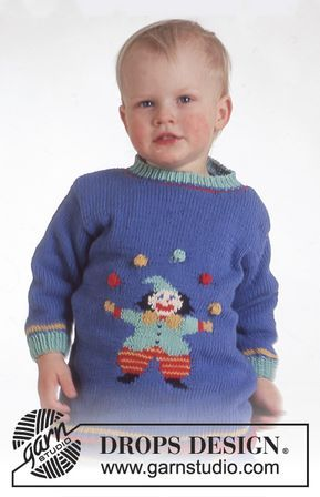 Drops Pulli Und Hose Mit Clown In Muskat Soft Baby Knitting Patterns