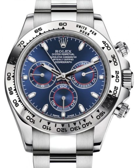 Rolex Cosmograph Daytona with a Blue Dial and Oyster Bracelet. Presenting the finest Men's Watches collection inspiration sharing. Best gift for men in fine suits.