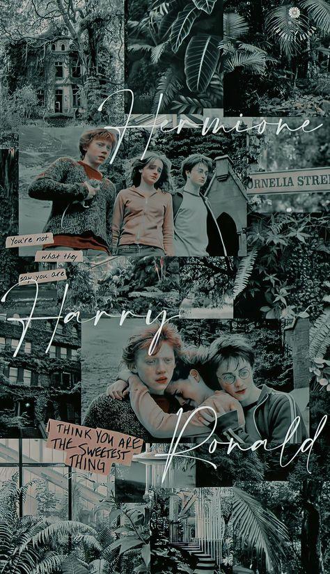 Edit wallpaper Hermione, Harry e ronald